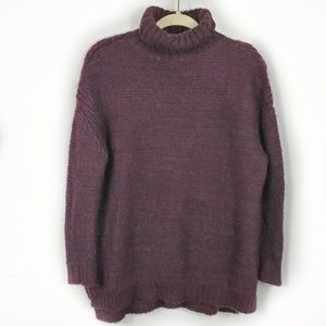 Zara Knit Marron oversized Turtleneck Sweater